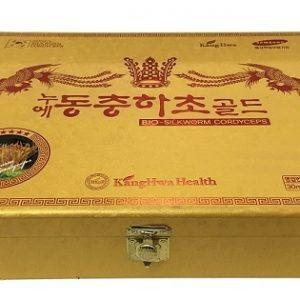 đông trùng hạ thảo hộp gỗ vàng 60 gói